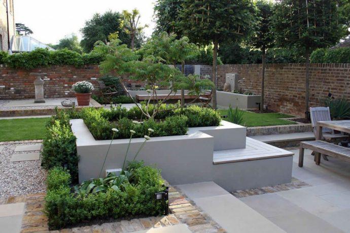 ландшафтный дизайн бетон